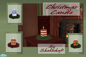 Sims 2 — Christmas Candle by Shakeshaft — A set of Christmas Candles set in a Wreath to brighten the dullest days of