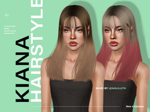 Sims 3 — LeahLillith Kiana Hairstyle by Leah_Lillith — Kiana Hairstyle All LODs Smooth bones Custom CAS thumbnail