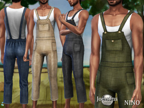 Sims 4 — Nino farmer overalls by jomsims — Nino farmer overalls FARMER THEME Overalls Sims 4 for Him in 6 shades. country