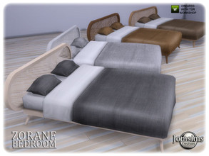 Sims 4 — Zorane bedroom bed by jomsims — Zorane bedroom bed