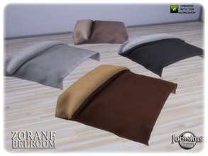 Sims 4 — Zorane bedroom bed comforter by jomsims — Zorane bedroom bed comforter
