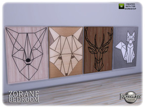 Sims 4 — Zorane bedroom big wall paintings by jomsims — Zorane bedroom big wall paintings
