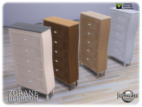 Sims 4 — Zorane bedroom dresser by jomsims — Zorane bedroom dresser
