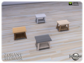 Sims 4 — Zorane bedroom end table by jomsims — Zorane bedroom end table