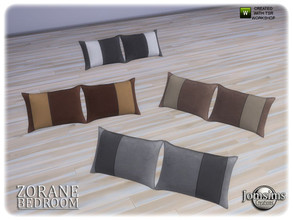 Sims 4 — Zorane bedroom pillows2 bed by jomsims — Zorane bedroom pillows2 bed