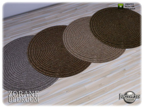Sims 4 — Zorane bedroom round rug by jomsims — Zorane bedroom round rug