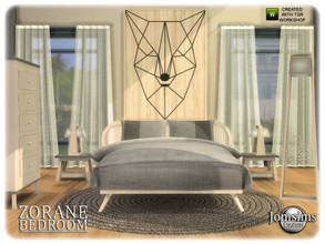 Sims 4 — Zorane bedroom by jomsims — Zorane bedroom Zorane bedroom Sims 4 for your Sims . NORDIC STYLE. in 4 shades and
