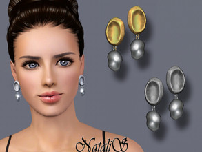 Sims 3 — NataliS TS3 Baroque pearl drop earrings by Natalis — Baroque pearl drop earrings. FT-FA-FE