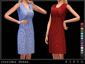 Sims 4 — pipco - corridor dress (sleeveless). by Pipco — a trendy sleeveless dress.