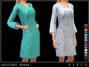 Sims 4 — pipco - corridor dress. by Pipco — a trendy dress in a variety of colors.