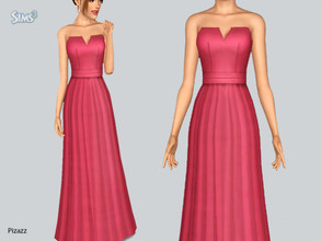 Sims 3 — Elegant Gown by pizazz — A beautiful and elegant gown that can be worn for formal or career. You may use any of
