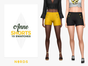 "Sims 4 — Anne Shorts by Nords — Hey guys! My mom suggested that I make shorts and I thought ""Why not? I've been"