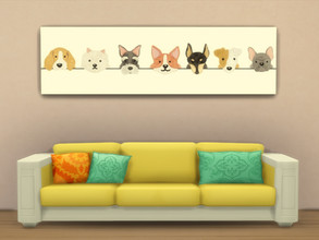 Sims 4 — Minimalist Paints-REQUIRES DINE OUT by PastelStyle — Dogs, cats or both. Hope you like it.
