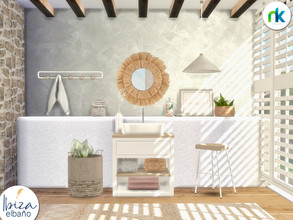 Sims 4 — Nikadema Ibiza El Bano by nikadema — Making and decorating a white mediterranean house, like the ones from Ibiza