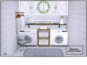 Sims 4 — Magnolia Laundry Room by Chicklet — Laundry Stinks! (literally!) Just because that may be your least favorite