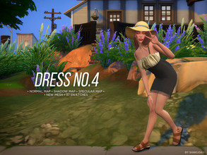 Sims 4 — Dress No.4 by Alexa_Catt — Short Dress From teen to elder 37 swatches HQ compatible Original mesh All LODs