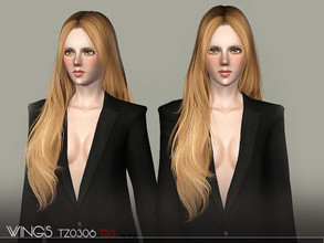 Sims 3 — WINGS HAIR TS3 TZ0306 F by wingssims — S4 conversion All LODs Smooth bone assignment hope you like it