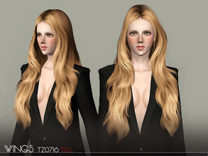 Sims 3 — WINGS HAIR TS3 TZ0716 F by wingssims — S4 conversion All LODs Smooth bone assignment hope you like it