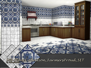 Sims 4 — MB-StoneCollection_FarmersProud_SET by matomibotaki — MB-StoneCollection_FarmersProud_SET, classy tile wall and
