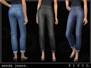 Sims 4 — pipco - wanda jeans. by Pipco — simple, comfy jeans.