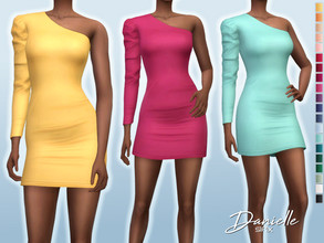 Sims 4 — Danielle Dress by Sifix2 — - New mesh - 20 swatches - Base game compatible - HQ mod compatible - Teen - Young
