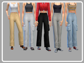 Sims 4 — Loose Cargo Pants v2 by EvieSAR — - basegame - 15 swatches each - all maps - custom thumbnails - not allowed to