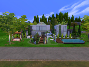 Sims 4 — Modern Mansion by the_lazy_ant164 — A modern build on a 40x30 lot. Recommended placement:The Summer Home lot in