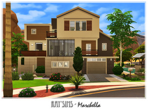Sims 4 — Marchella by Ray_Sims — This house fully furnished and decorated, without custom content. This house has 3