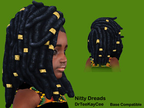 Sims 4 — Nitty Dreads - Base Combatible by drteekaycee — This converted hairstyle allows your toddler to share a natural
