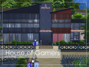 Sims 4 — House of Gamers by arlaney — House of Gamers is created to accomodate those geeky sims of yours. Perfect for