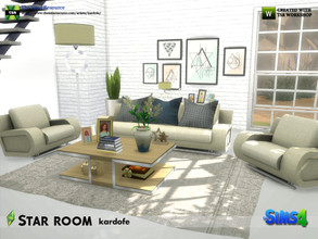 Sims 4 — kardofe_Star room by kardofe — Set of ten new meshes to recreate a modern style room, with many color options