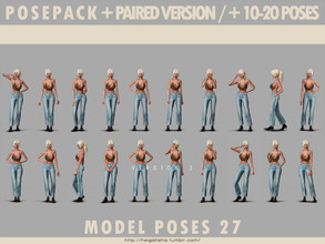 Sims 4 — Model poses 27 posepack by HelgaTisha — Pose pack - Including 10-20 poses - All in one - Paired pose all in one