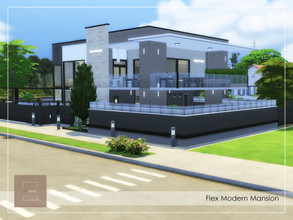 Sims 4 — Flex Modern House NoCC by arlaney — An elegant and cozy family house. Expansion Packs: Eco Lifestyle Discover