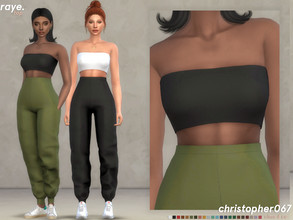 Sims 4 — Raye Top / Christopher067 by christopher0672 — This is a cute little tube top that pairs perfectly with the Raye