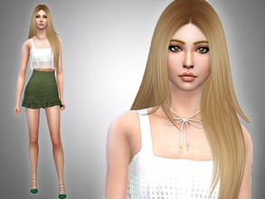 Sims 4 — Dina Caliente by Mini_Simmer — Name: Dina Caliente Age: Young Adult Traits: Clumsy, Active, Ambitious.