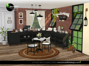Sims 4 — Country Coffee by SIMcredible! — Hmmmmm... who can resist coffee? This is a country coffee corner, our farm