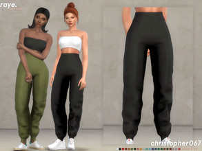 Sims 4 — Raye Pants / Christopher067 by christopher0672 — This is a cute pair of puffy athletic joggers that pairs