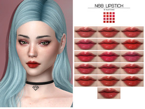 Sims 4 — LMCS N68 Lipstick (HQ) by Lisaminicatsims — -New Mesh -HQ Compatible -16 Swatches -All Skin