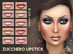 Sims 4 — Zucchero Lipstick by Devirose — Wonderful very nude colors for lips, elegant and chic. For a sober make-up and