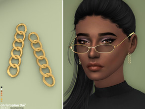 Sims 4 — Rascal Earrings / Christopher067 by christopher0672 — These are a simple set of big dangle chain earrings. 8
