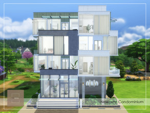 Sims 4 — Newcrest Condominium by arlaney — A 4-Storey Condominium located at Newcrest, with 12 units and a pool. You can