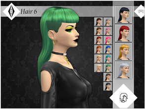Sims 4 — Hair 6 - GP04 Needed by AleNikSimmer — Hair inspired by gothic fashion, you need Vampires GP. They come in 18 EA