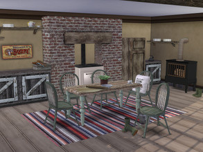 Sims 4 — Country Cottage Kitchen by TheNumbersWoman — It's a kitchen in the country ready for the farmhouse. Some things