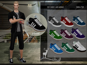 Sims 4 — DSF SHOES AXIS ADIDAS by DanSimsFantasy — Sports shoes for men. You have 13 Samples. It applies to youth and