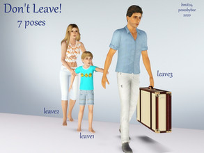 Sims 3 — Don't Leave! by jessesue2 — Poses to depict two different situations: A - the marriage is breaking up/divorce