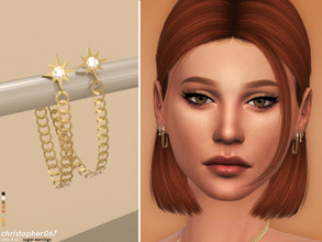 Sims 4 — Sugar Earrings / Christopher067 by christopher0672 — This is a cute pair of dangle chain earrings that fasten to