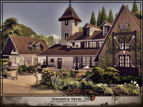 Sims 4 — Old country farm by Danuta720 — This old farm has an antique shed, a beautiful large garden, fish pond and much