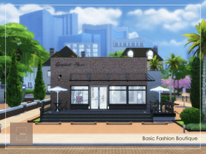 Sims 4 — Basic Fashion Boutique NoCC by arlaney — Basic Fashion Boutique is a perfect spot for your shopaholic sims.