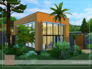 Sims 4 — Casa Moderna by arlaney — Casa Moderna is a modern-type residential located in the middle of tree groves. Its