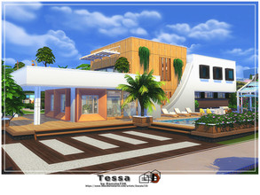Sims 4 — Tessa by Danuta720 — Tessa is a large family home. Luxurious interiors will ensure comfort for your family.